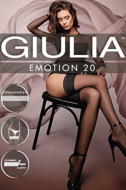 Тонкие шелковистые кружевные чулки Giulia EMOTION 20 - фото 1