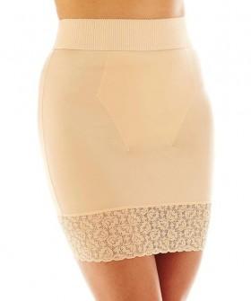 Корректирующая юбка с трусиками и кружевной отделкой