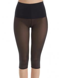 Женские утягивающие штаны капри средней степени коррекции с широким поясом