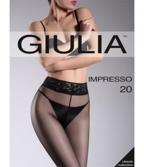 Колготки с широким красивым кружевным поясом GIULIA IMPRESSO 20