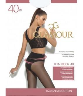 Матовые колготки Glamour THIN BODY 40